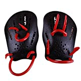 Pair Rubber Swimming Webbed Gloves - yingfa Pair black Rubber Swimming Hand Paddles Webbed Gloves M