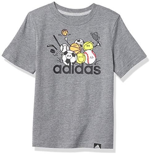 adidas Boys' Short Sleeve Graphic Tee T-Shirt