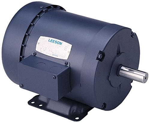 Leeson 110065.00 Rigid Base Special Voltage Motor, 1 Phase, 56 Frame, Rigid Mounting, 3/4HP, 1500 RPM, 110/220V Voltage, 50Hz Fequency