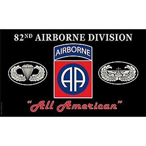 U.S. Army 82nd Airborne Division All American Flag 3ft x - American Number Platinum
