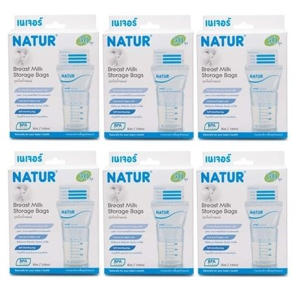 Natur breastmilk storage 30-pack box of 6 pieces