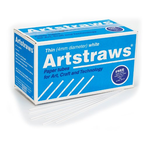 Artstraws School Pack, Thin White (1800) Artstraws Limited AA9030