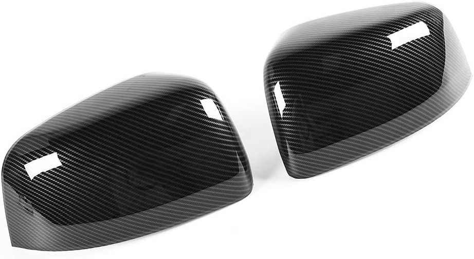 JeCar Side Mirrors Cover Carbon Fiber ABS Rearview Mirrors Trim for 2011-2019 Jeep Grand Cherokee