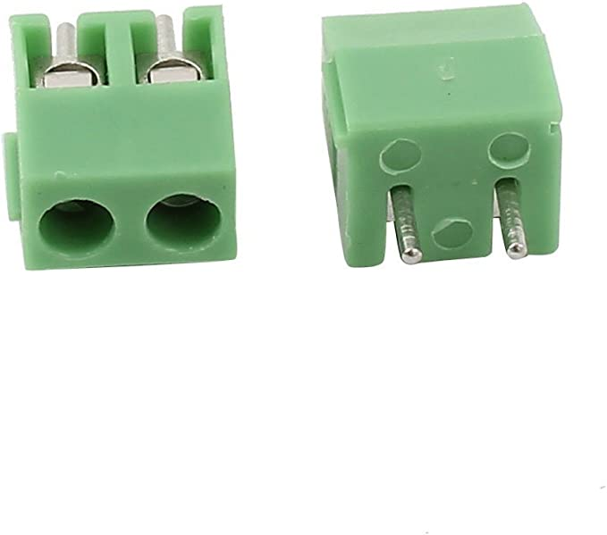 YXQ 30Pcs 3.96mm Pitch 2 Pole PCB Mount Screw Terminal Block Connector 300V 10A Green AWG24-18 2-Pin