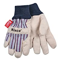 KINCO 1927KW-C Lined Ultra Suede Cold Weather Glove with Knit Wrist, Ages 3-6, Child, Golden