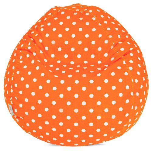 Majestic Home Goods Bean Bag, Tangerine Small Polka Dot, Small by Majestic Home Goods