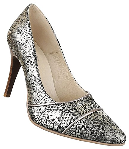 Damen Pumps High Heels Schuhe Leder rRx5wqr1
