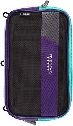 Mead Five Star Expandable Pop-Up Pouch / Case, Purple (50218)]()