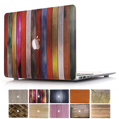 - MacBook Pro 13 Retina Case, PapyHall 2 in 1 MacBook Pro Protect Case Distinctive Wood Printing Plastic Hard Shell Cover Case for MacBook Pro 13