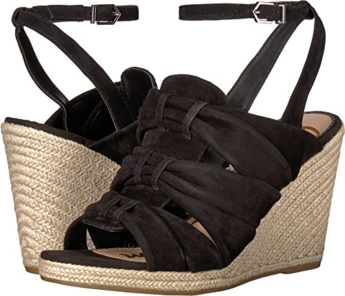 (Sam Edelman Women's Awan Wedge Sandal, Black Suede, 5.5 M US)