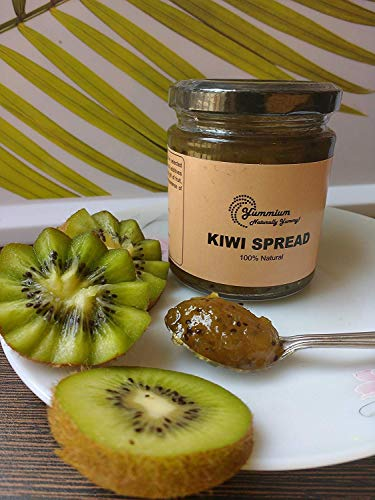 Yummium Handmade Kiwi Spread - 100% Natural Fruit Preserve, Free from Artificial Preservatives - 225 GM
