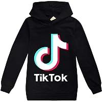 Dgfstm TIK Tok Boys Girls Unisex Hooded Sweatshirt Long Sleeve Pullover Hoodie Leisure Top Lightweight Fleece