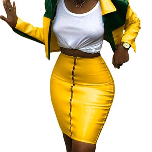 Yellow Leather Jacket - 7