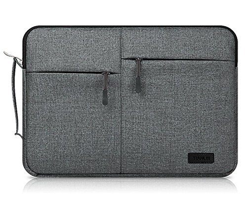 Black Canvas Zippered Carrying Case Sleeve Bag for Samsung Notebook 5 / Notebook 7 15.6 / Fujitsu LIFEBOOK / Acer Aspire V15 / Predator 15 / ASUS ROG / HP ()