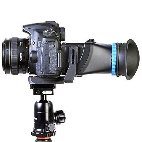 ASHANKS 5D3 5D2 SLR 3 inch 3.2 inch flip LCD screen 3 magnification viewfinder goggles for Canon for Nikon As QV1 Canon 500D 550D 600D 650D 700D 60D 70D 5D MarkII 5D MarkIII 6D 7D Nikon D90 D7000 (Sevenoak Viewfinder)