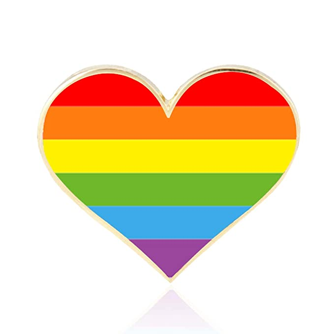 rhungift 10 Pack Bisexual Pride Flag pins Gay LGBT Bi-Pride Flag Lapel Pins Jewelry Quality Enamel Pride Lapel Pin