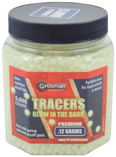 Crosman Glow-In-The-Dark AirSoft BBs (5000 .12G 6mm BBs)