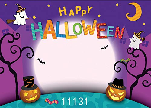 WOLADA 7x5ft Cartoon Halloween Photo Backdrop Pumpkin Moon Photography Backdrops Happy Halloween Party Vinyl Photography Background for Studio Prop 11131