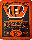 "NFL Cincinnati Bengals ""Marque"" Fleece Throw Blanket, 50"" x 60"""