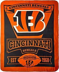 NFL Cincinnati Bengals Marque Printed Fleece Throw, 50