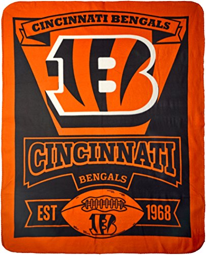 The Northwest Company NFL Cincinnati Bengals Marque Fleece Throw Blanket, 50