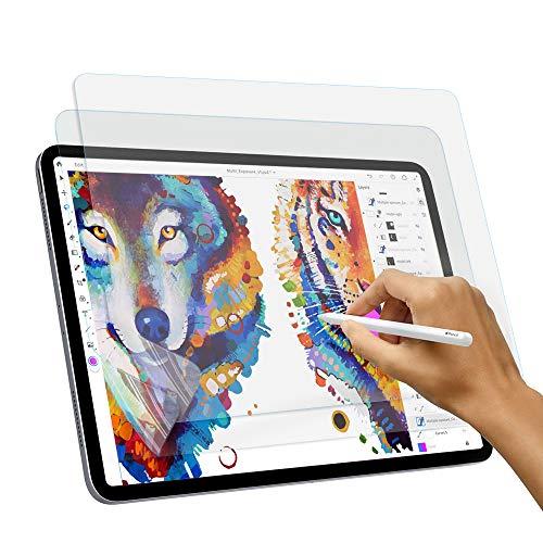 Paperlike Screen Protector for iPad Pro 12.9 2018,Tuxlke iPad Pro 12.9 Paperlike Screen Protector Compatible with Apple Pencil/Anti Glare/Anti-Fingerprint/Bubble-Free 2pack ()