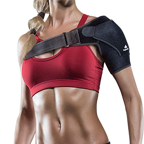 (Topsray Shoulder Brace for Men and Women - Available Right and Left - Lightweight Shoulder Compression Support for All Sports, Football, Basketball - Rotator Cuff and Loose Pain - Neoprene,Adjustable)