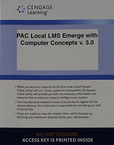 Local LMS Emerge with Computer Concepts v. 5.0, 1 term (6 months) Printed Access Card (New Perspectives Series)