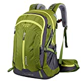 Cheap Waterproof Hiking Backpack, 40L Nylon Large Capacity to meet Sport Camping Travel Trekking Rucksacks Pack Mountaineering Climbing Knapsack (40L 01 Green, 40L)