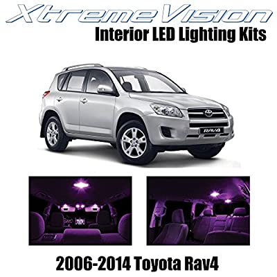 XtremeVision Interior LED for Toyota RAV4 2006-2014 (6 Pieces) Pink Interior LED Kit + Installation Tool: Automotive