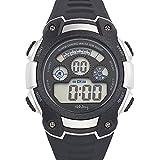 Tekday - 654624 - Montre Mixte - Quartz Digital - Cadran Noir - Bracelet Synthétique Noir