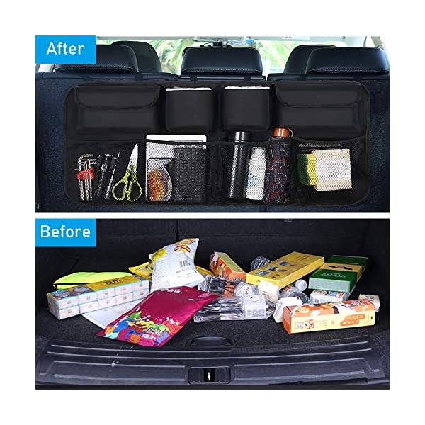 51ZqDcYoUCL URAQT Kofferraum Organizer Auto, Auto Aufbewahrungstasche, Kofferraumtasche Auto, Wasserdichten Taschen Auto mit Starkes…