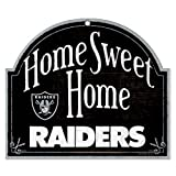 """WinCraft NFL Oakland Raiders 91887010 Wood Arched Sign, 10"""" x 11"""""""