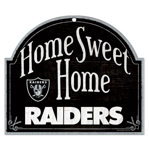 Raiders Wood Sign - WinCraft NFL Oakland Raiders 91887010 Wood Arched Sign, 10