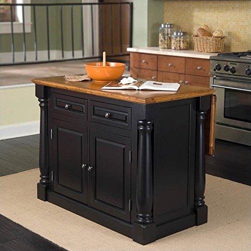Monarch Black/Distressed Oak Kitchen Island by Home Styles