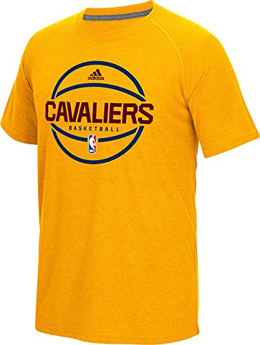 NBA Cleveland Cavaliers Men's Pre-Game Graphic Climacool Ultimate Short Sleeve Tee, XX-Large, Gold