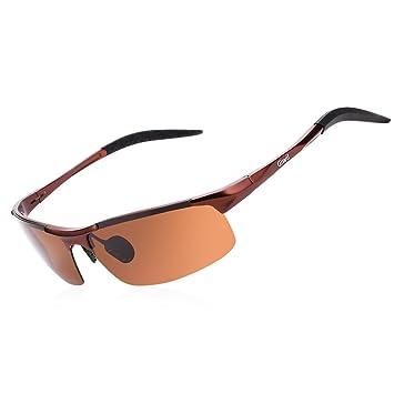 Gafas de sol polarizadas para hombre y mujer Giwil, ultra ligeras, marco de metal