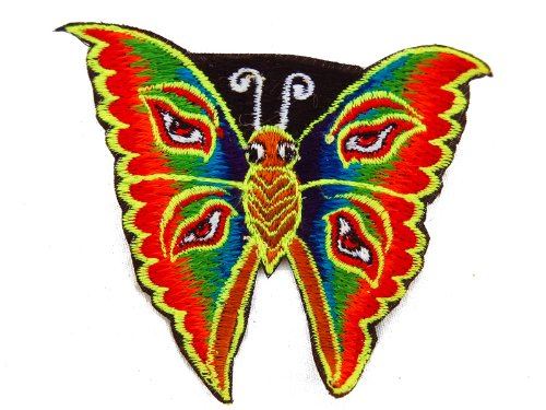 (ImZauberwald rainbow butterfly embroidery patch UV active)