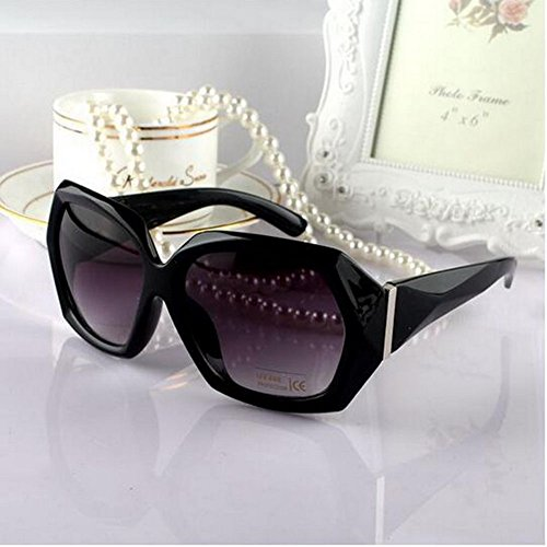 XENO-Ladies Crystal Black Frame Sunglasses Shades Oversized Women Large Big Fashion - Uk Chloe Glasses Frames