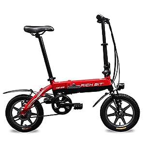 Eléctricas Bicicletas Plegables Bastidor De carretera BMX Rojo 14 pulgadas mini Rueda 250W*38V Shimano set 7 velocidades Richbit RT 618 Nojo