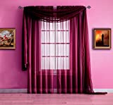 plum window scarf - Warm Home Designs Extra Long Plum Purple Sheer Window Scarf. Valance Scarves are 56 X 216 Inches In Size. Great As Window Treatments, Bed Canopy Or For Decorative Project. Color: Plum 216