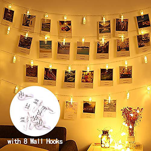 40 Warm White Led Fairy Lights Clear Cable in US - 1
