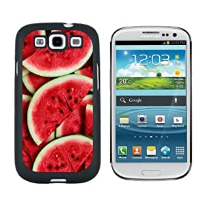 Watermelon - Snap On Hard Protective Case for Samsung Galaxy S3 - Black by icecream design