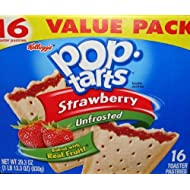 Pop-Tarts Strawberry Unfrosted Toaster Pastries 16 Toaster 29.3 OZ