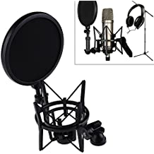 Microphone Mic Professional Shock Mount with Pop Shield Filter Screen Free Shipping OD#S