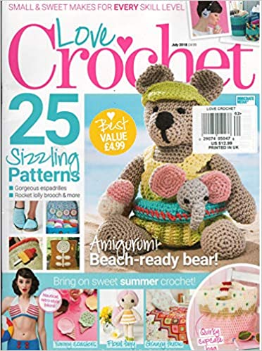 Love Crochet Magazine July 2018 Various Amazoncom Books
