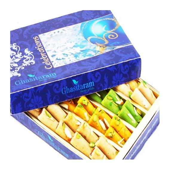 Ghasitaram Gifts Sugarfree Sweets- Assorted Rolls Box 200 gms