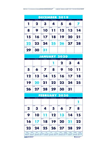 (House of Doolittle 2020 Wall Calendar, Three-Month Vertical, 8 x 17 Inches, December - January (HOD3646-20))