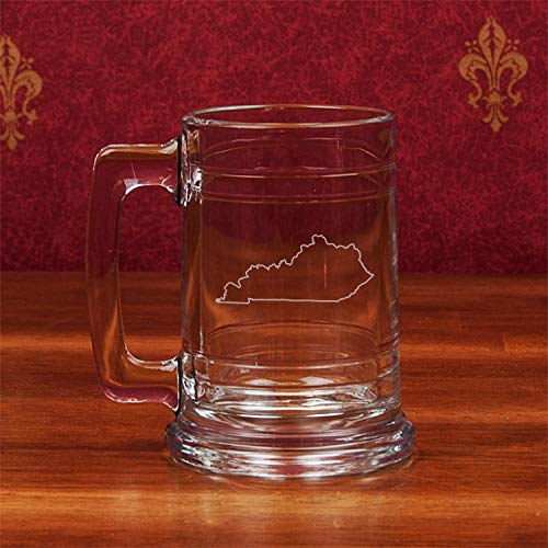 Campus Crystal Kentucky Etched Colonial Tankard