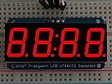 Adafruit 0.56'' 4-digit 7-segment Display W/i2c Backpack - Red